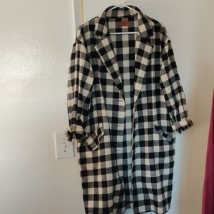 POL gingham the light weight coat